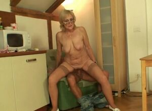 Son creampie mom